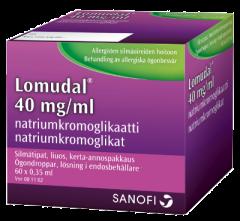 LOMUDAL 40 mg/ml silmätipat, liuos, kerta-annospakkaus 60x0,35 ml