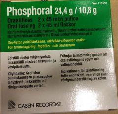 PHOSPHORAL 24,4/10,8 g oraaliliuos (542/240 mg/ml)2x45 ml
