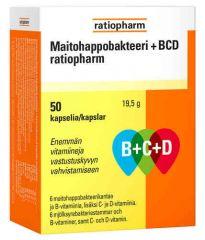 MAITOHAPPOBAKTEERI B+C+D RATIOPHARM 100 KAPS