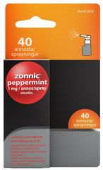 ZONNIC PEPPERMINT 1 mg/suihke sumute suuonteloon, liuos (3 ml)40 annosta