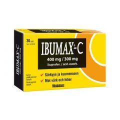 IBUMAX-C 400/300 mg tabl, kalvopääll 30 fol