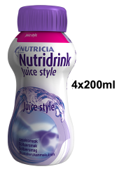 NUTRIDRINK Juice style mustaherukka 4x200 ml