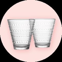 Iittalan Kastehelmi-juomalasit 2 kpl